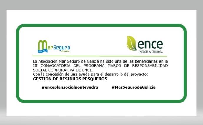 axuda ENCE asociación mar seguro de Galicia